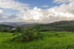 Una visión desde la plantación de Morgan Lewis en St Andrew, Barbados foto de archivo libre de regalías
