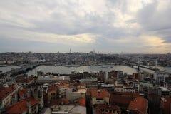 Una visión desde la torre de Galata Imagen de archivo libre de regalías