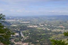Una visión desde Montserrat foto de archivo