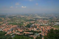 Una visión desde San Marino fotografía de archivo libre de regalías