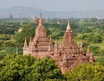 Una visión en los templos de Bagan en Myanmar fotografía de archivo