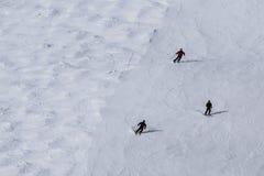 Una visión general durante el eslalom gigante de Audi FIS el Ski World Cup Women alpino imagen de archivo libre de regalías