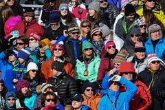Una visión general durante el eslalom gigante de Audi FIS el Ski World Cup Women alpino fotos de archivo