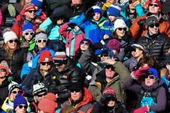 Una visión general durante el eslalom gigante de Audi FIS el Ski World Cup Women alpino foto de archivo libre de regalías