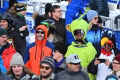 Una visión general durante el eslalom gigante de Audi FIS el Ski World Cup Women alpino imágenes de archivo libres de regalías