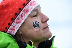 Una visión general durante el eslalom gigante de Audi FIS el Ski World Cup Women alpino foto de archivo