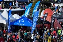 Una visión general durante el eslalom gigante de Audi FIS el Ski World Cup Women alpino imagenes de archivo