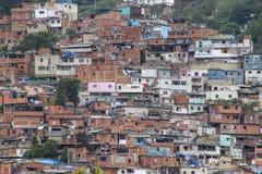 Una visión muestra los tugurios del EL Valle, Venezuela foto de archivo