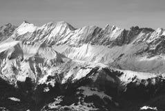 Una visión panorámica en Chamonix Foto de archivo libre de regalías