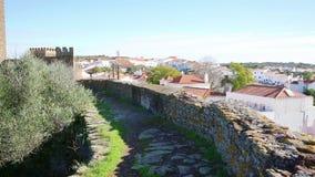 Una visión sobre la ciudad de Alandroal y el castillo metrajes
