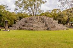 Una visión típica en las ruinas de Copan en Honduras fotografía de archivo libre de regalías