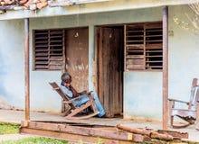 Una visión típica en Vinales Cuba imagen de archivo