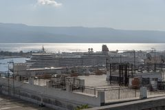 Una visión a través de los estrechos de Messina Imagen de archivo