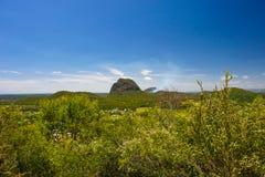 Una visión a través del parque nacional de las montañas de cristal de la casa cerca de Brisbane Fotografía de archivo