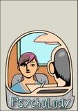 Una visita allo psicologo illustrazione di stock