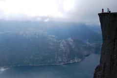 Una visita del Lysefjorden Imagenes de archivo