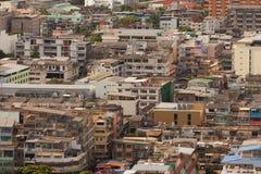 Una vista aérea de la ciudad denso poblada y congestionada Fotografía de archivo
