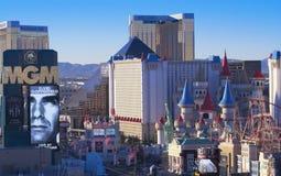 Una vista aérea de la tira de Las Vegas que parece del sur Imagen de archivo