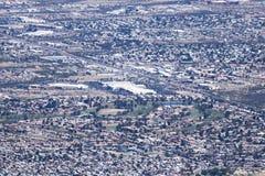 Una vista aérea de Sierra Vista, Arizona, de Carr Canyon Fotos de archivo libres de regalías