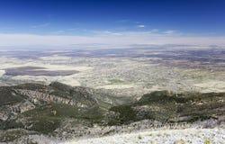 Una vista aérea de Sierra Vista, Arizona, de Carr Peak Imagen de archivo
