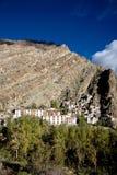 Una vista aérea del monasterio de Hemis, Leh-Ladakh, Jammu y Cachemira, la India Imagen de archivo libre de regalías