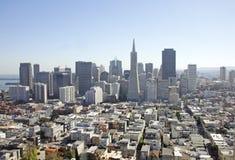 Distretto finanziario a San Francisco, S.U.A. Fotografia Stock Libera da Diritti