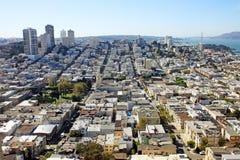 Distretto finanziario a San Francisco, S.U.A. Fotografie Stock