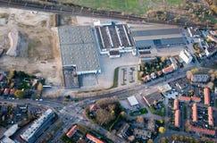 Una vista aerea della città di Breda (Paesi Bassi). immagine stock