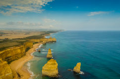 Una vista aerea di 12 apostoli Fotografie Stock