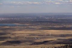 Una vista aerea di Denver, Colorado fotografie stock
