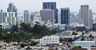 Una vista aerea di San Diego del centro Fotografia Stock