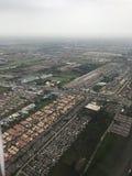 Una vista aerea mostra l'area della città fotografie stock libere da diritti