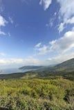 Una vista al lago Ocrida Fotografie Stock