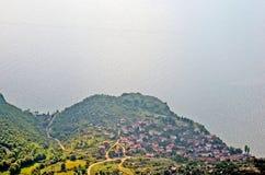 Una vista al lago Ocrida Immagine Stock Libera da Diritti