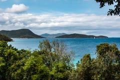 Una vista al mar del Caribe clásica Imagen de archivo