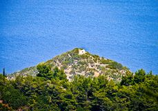 Una vista al Mar Egeo - isla de SAMOS - GRECIA Fotos de archivo
