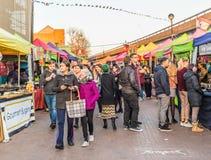 Una vista al mercato della strada di Portobello immagini stock libere da diritti