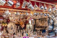Una vista al mercato di Portobello fotografia stock