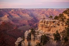 Una vista al parco nazionale di Grand Canyon, orlo del sud, Arizona, U.S.A. fotografie stock