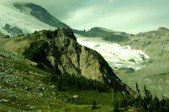 Una vista alpina Fotografia Stock Libera da Diritti