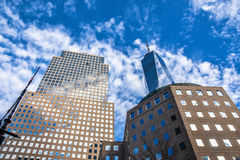 Una vista altra di una concentrare e costruzione commerciale New York, S Fotografia Stock