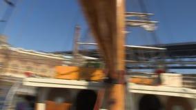 Una vista amplia de una ciudad almacen de metraje de vídeo