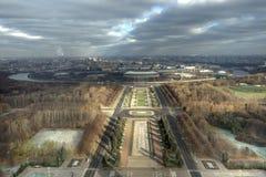 Una vista bird's-eye di Mosca fotografia stock libera da diritti