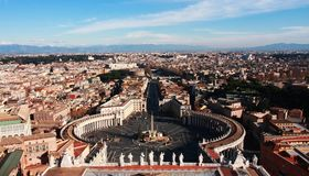 Una vista Bird's-eye di Vatican Immagine Stock Libera da Diritti