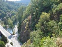 Una vista con un bello panorama a Lussemburgo immagine stock libera da diritti