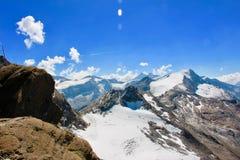 Una vista da Kitzsteinhorn, Kaprun, alpi, Austria Fotografia Stock Libera da Diritti