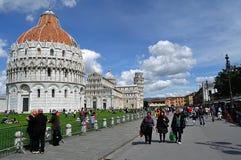 Quadrato di Pisa dei miracoli Fotografie Stock