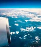 Una vista da un aeroplano fotografia stock