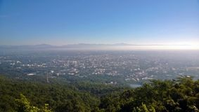 Una vista da una montagna Immagine Stock Libera da Diritti