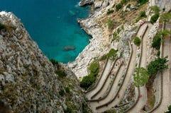 Una vista dal Capri Fotografia Stock